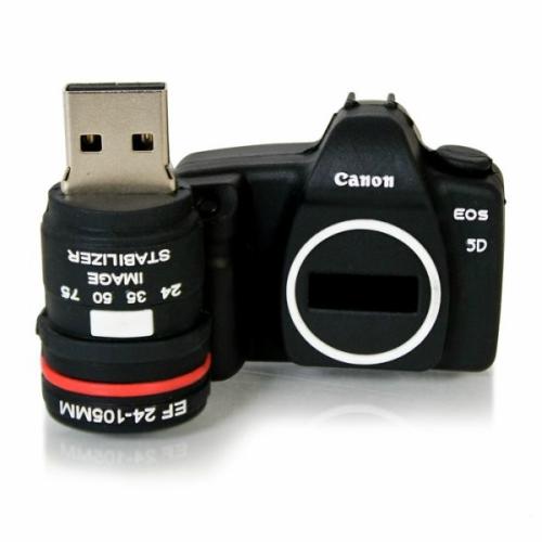 USB01-1 16gb Goma c/ámara de Fotos Tipo Reflex Canon